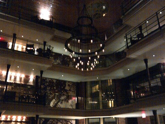 The Liberty Hotel:                   The lobby view