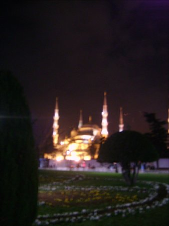 Sultanahmet District: The Blue Mosque by night