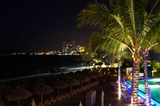 Now Amber Puerto Vallarta:                                     View of the other resorts.....at night.