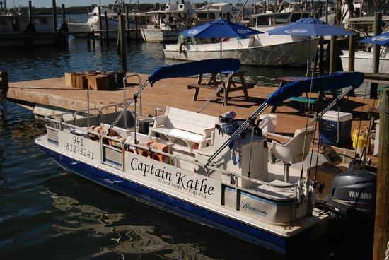 Star Fish Company Dockside Restaurant:                                     Captain Kathe's boat