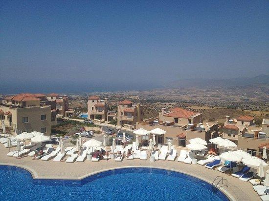 Akamas Health Farm & Spa: balcony view overlooking the swimming pool