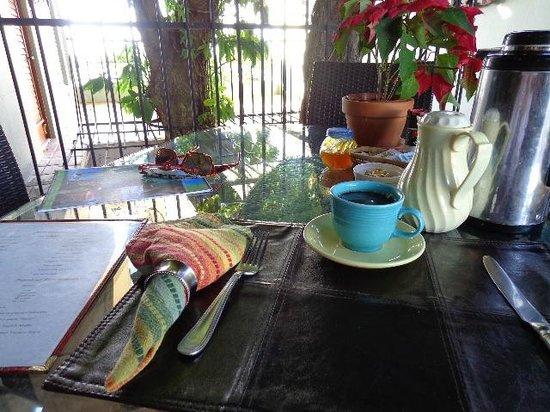 Hacienda Tamarindo:                   Breakfast around the Tamarind tree