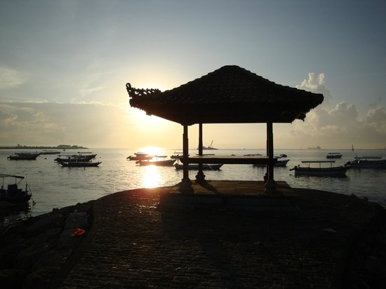 The Tanjung Benoa Beach Resort - Bali:                                                       Very early sunrise at the beach opposite h