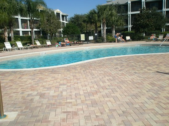 Bahama Bay Resort Orlando by Wyndham Vacation Rentals:                   One of the smaller heated pools behind building 38