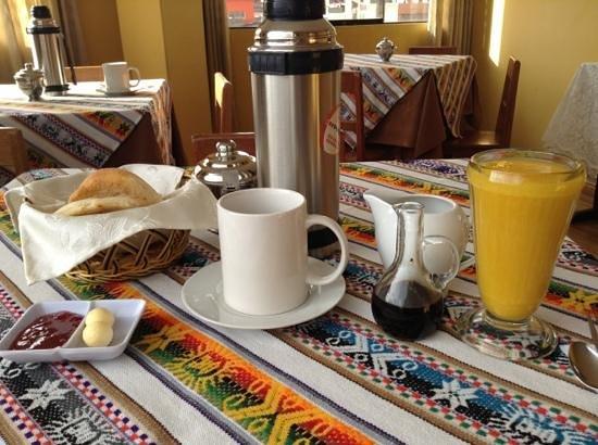 Santa Maria Inn Puno:                   breakfast