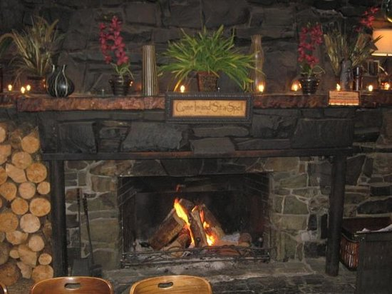 San Dune Pub:                                     Warm up by the fire!