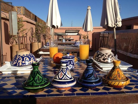 Riad Djebel:                   Breakfast at the terrace