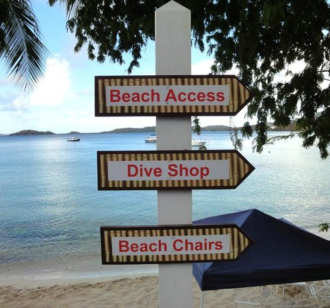 Secret Harbour Beach Resort:                   Fun signage