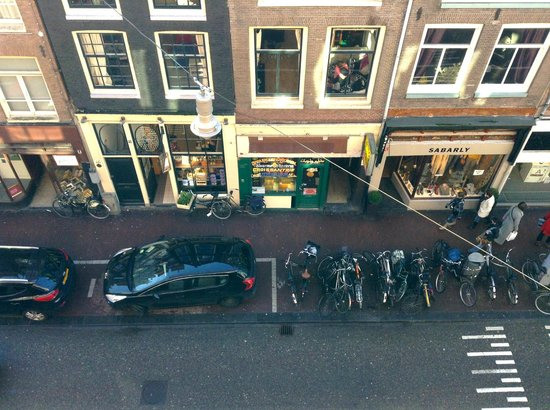 The Bank Hotel:                                     View from my room window onto the main street