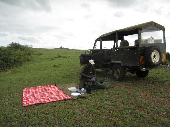 Little Governors' Camp:                   Picknicken während Safari