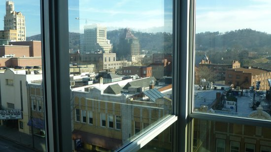 Aloft Asheville Downtown:                   Corner suite onto Biltmore Ave