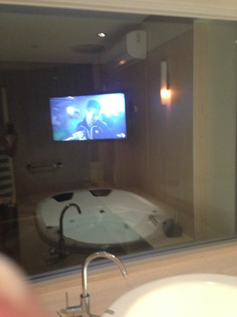 Lakes Resort Hotel:                   TV from the Spa...