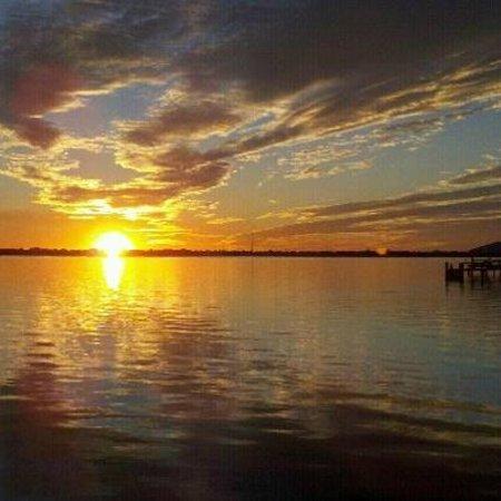 Djon's Steak & Lobster House :                   Garret's photo of the sunset from D'jons