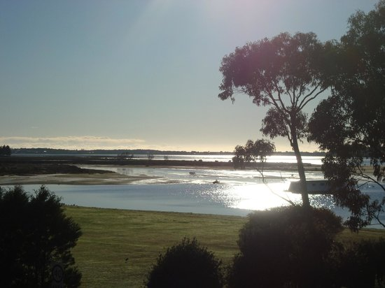 Bayside Inn:                                     View from room early morning