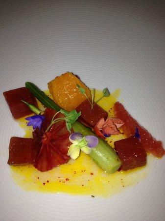 Meritage at the Claremont:                   Yellow Fin Tuna Tartare