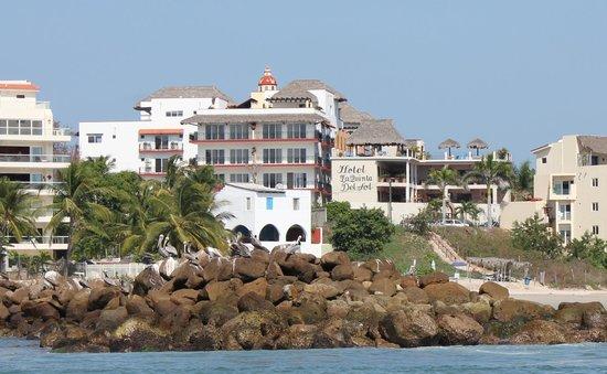 Hotel La Quinta del Sol:                                     Hotel from a boat