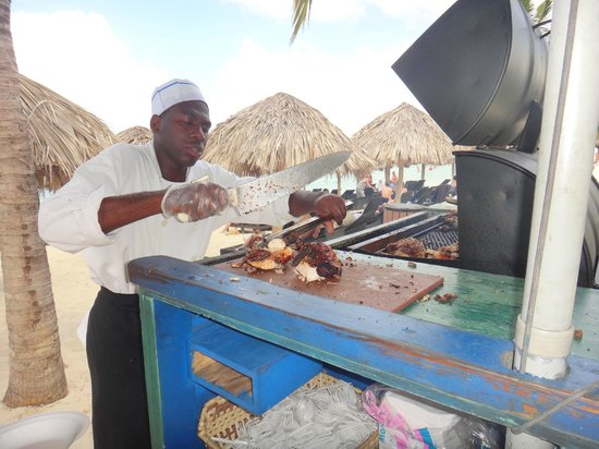 Secrets St. James Montego Bay: jerk chicken mon! The best!