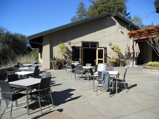 Gary Farrell Winery:                   patio area outside the tasting room
