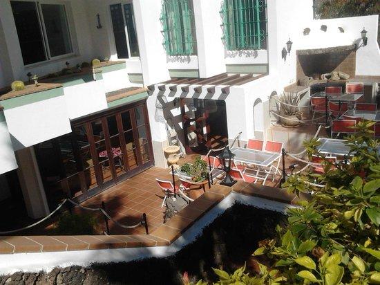 Monte del Mar: l'ingresso al ristorante in stile marinaresco