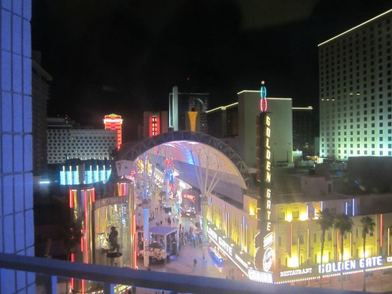 Plaza Hotel & Casino:                                     View of Fremont Street from our first room. Loved it!