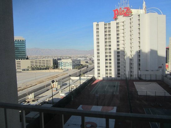 """Plaza Hotel & Casino:                                     """"view"""" from our """"deluxe view room"""" . Very disappointed.    """