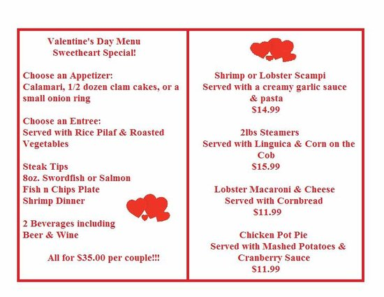 valentine's day specials!!! - picture of norm's seafood restaurant, Ideas