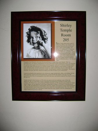 La Posada Hotel:                   Plaque outside our door...all rooms have a different famous person who stayed