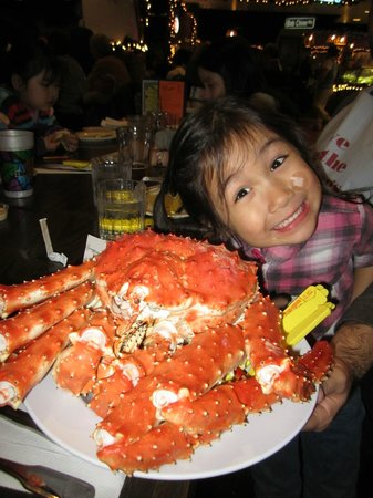 Bob Chinn's Crab House:                   4.5 pounds of Alaskan King Crab
