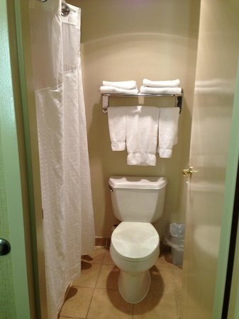 Holiday Inn Express Ramsey-Mahwah:                   shower & toilet
