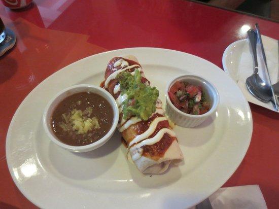 Frontera Sol of Mexico :                   Chicken Burrito