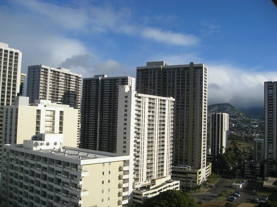 Queen Kapiolani Hotel:                   City view room from 18th Floor