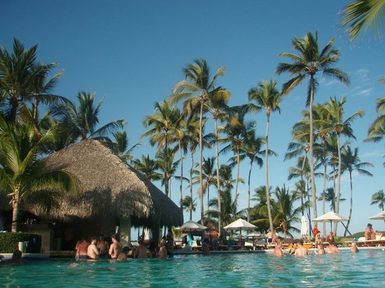 Dreams Palm Beach Punta Cana:                   Pool with swim up bar