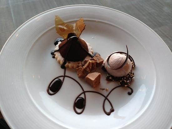 View 180 at Enchantment Resort:                                     Chocolate, Guajillo Chile, Aerated Milk Chocolate, Port Gela