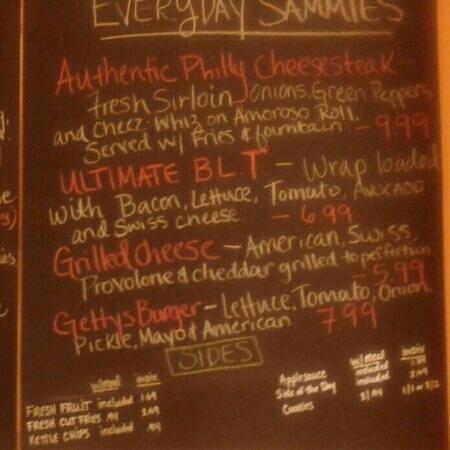 "Tipton's Grill:                                                       Everyday Lunch ""Sammich"" Menu"