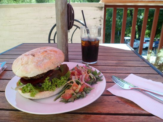 New Orleans Hotel:                   burger meal at New Orleans, Arrowtown