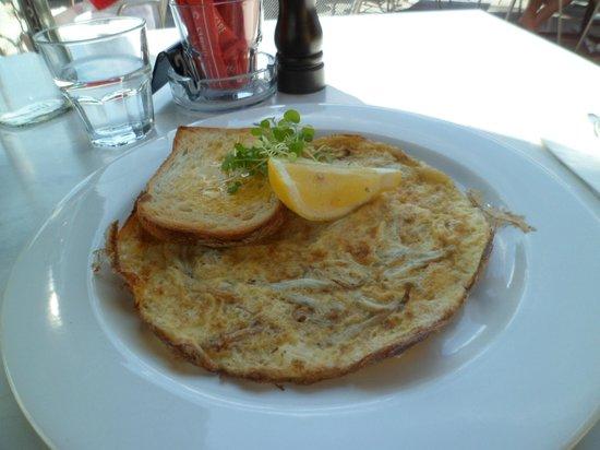 Whitebait Omelet (brunch) Pier 19