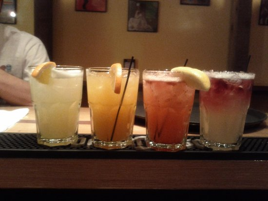 Rick's Cantina:                   House Infused Tequilas..delicious rainbow margaritas