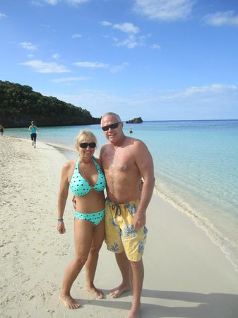 Infinity Bay Spa and Beach Resort:                   Yep, me and my honey...