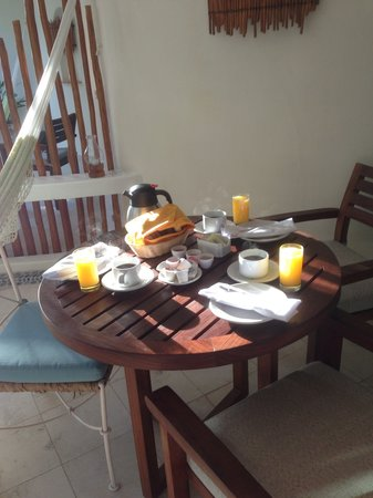 Playa Palms Beach Hotel:                                                       Coffee, oj,croissants