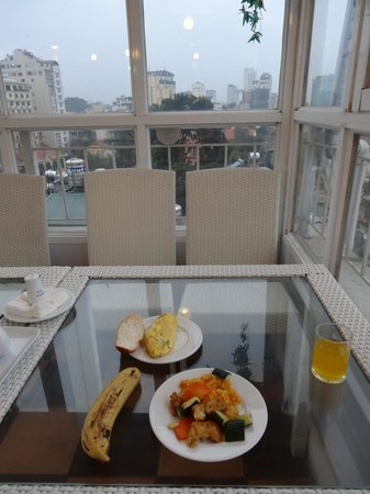 The Time Hotel:                   Breakfast view