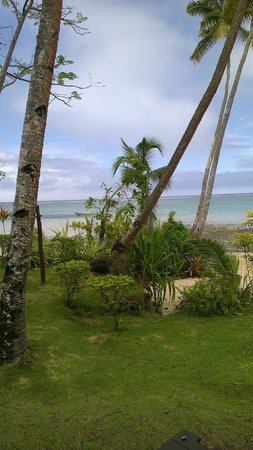 Mango Bay Resort:                   Morning View from the Bure