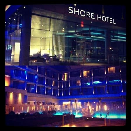 Shore Hotel:                   hotel at night! love the lights