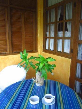 Coco Grove Beach Resort:                                     Our spacious balcony                                  