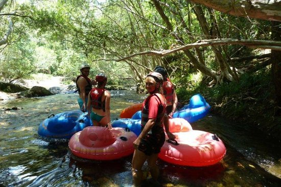 Aussie Drifterz:                   Having a break at the end of some rapids