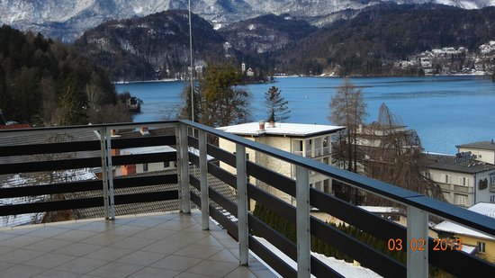 Golf Hotel Bled:                                     View from out terrace