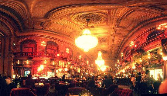 Berns Hotel:                   The amazing dining room, packed with history