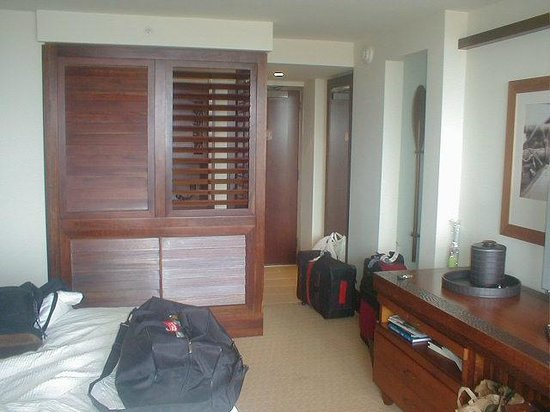 Royal Lahaina Resort:                                     view of the door from inside the room