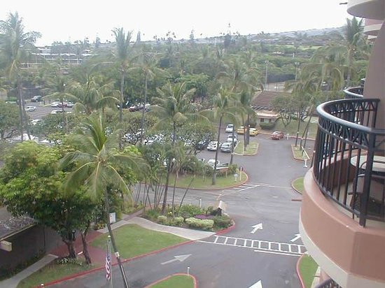 Royal Lahaina Resort:                                     parking lot view from balcony