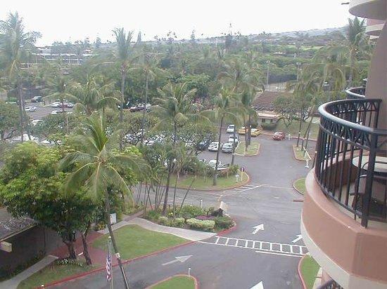 Royal Lahaina Resort:                                     parking lot view from balcony                             