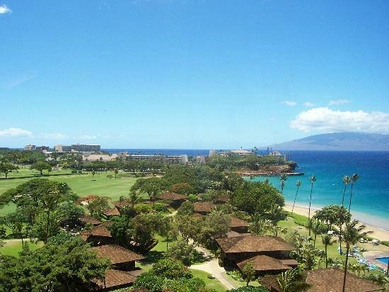 Royal Lahaina Resort:                                     view from lanai towards beach